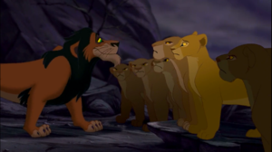 Scar and the lionesses