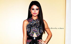 Selena kertas dinding