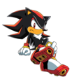 Shadow The Hedgehog Sitting Sonic X