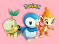 Sinnoh starters - pokemon photo