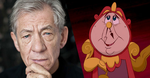 "Beauty and the Beast (2017) fond d'écran titled Sir Ian McKellen ""Cogsworth"""