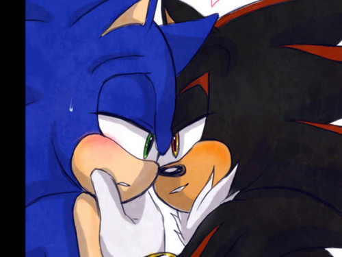 Sonic Yaoi hình nền probably with anime called Sonadow ❤❤❤