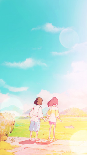 Spirited Away Phone fondo de pantalla
