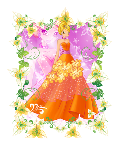 The Winx Club wallpaper possibly with a bouquet entitled Stella:Flower Princess