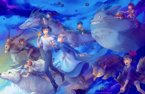 애니메이션 영화 바탕화면 called Studio Ghibli Characters