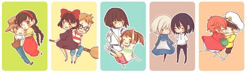Hayao Miyazaki fondo de pantalla titled Studio Ghibli Couples