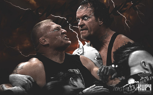 WWE wallpaper containing a concert and a guitarist titled SummerSlam 2015 - Brock Lesnar vs The Undertaker