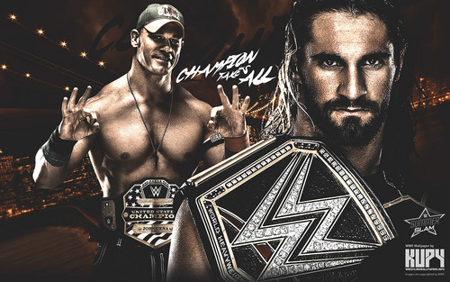 WWE wallpaper called SummerSlam 2015 - John Cena vs Seth Rollins