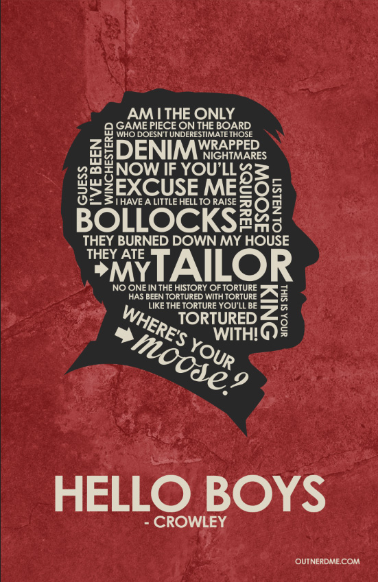 SuperNatural - Crowley Quote Poster