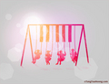 Swinging Piano - pink-color photo