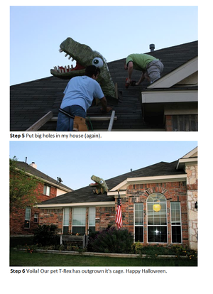 T-Rex Rooftopper Printable sheets