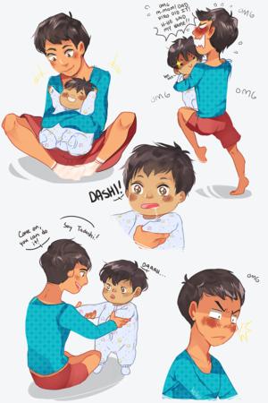 Tadashi and Baby Hiro