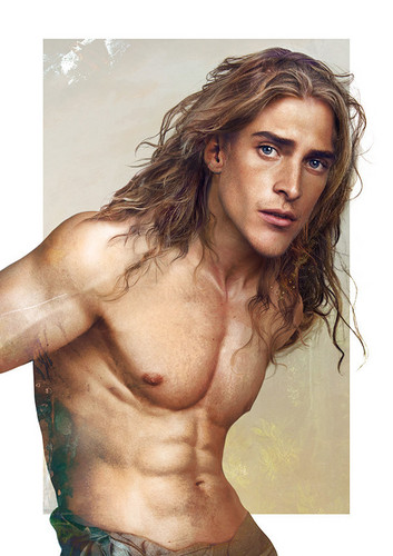 ডিজনি দেওয়ালপত্র with a hunk, a six pack, and skin entitled Real life Tarzan