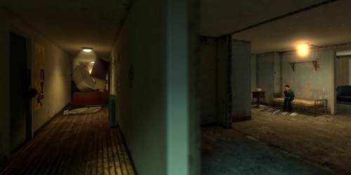 Half Life wallpaper possibly with a penitentiary, a cell, and a penal institution entitled The Apartments