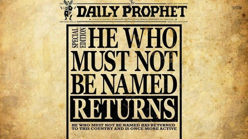 Harry Potter پیپر وال entitled The Daily Prophet