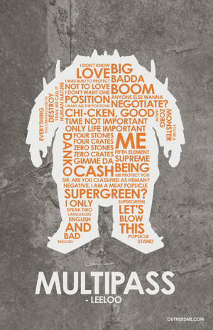 The Fifth Element Quote Poster
