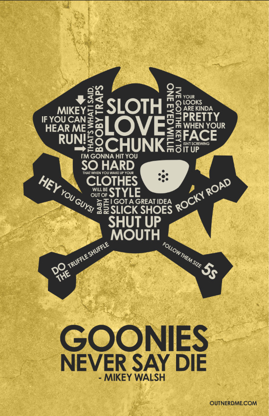 The Goonies Quote Poster
