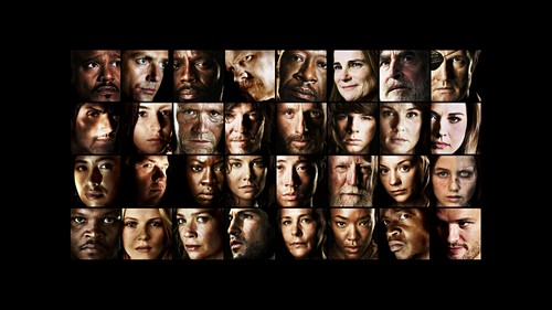 The Walking Dead karatasi la kupamba ukuta entitled The Walking Dead main characters