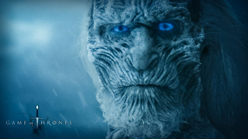 Game of Thrones karatasi la kupamba ukuta titled The White Walkers
