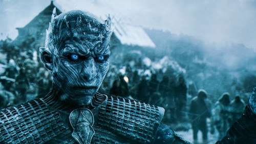 Game of Thrones karatasi la kupamba ukuta possibly with a kisima, chemchemi titled The White Walkers