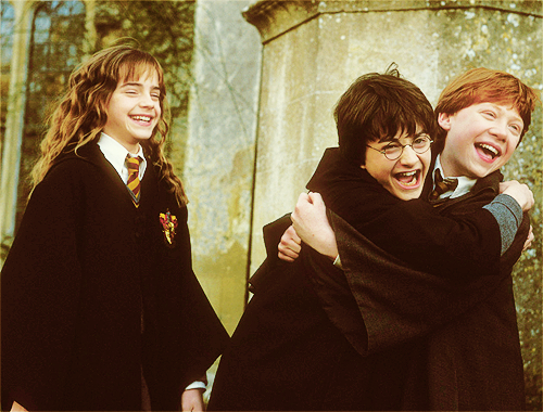 Harry, Ron and Hermione দেওয়ালপত্র called The golden trio