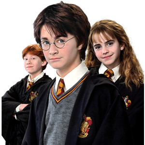 Harry, Ron and Hermione দেওয়ালপত্র titled The golden trio
