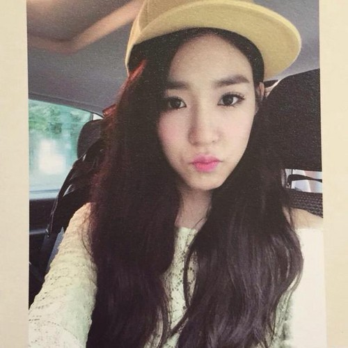 Tiffany Hwang wallpaper possibly containing a fedora, an outerwear, and a portrait called Tiffany Birthday Party Photobook