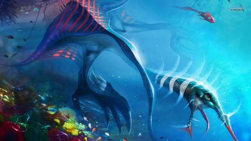 Fantasy Wallpaper Titled Underwater Creatures
