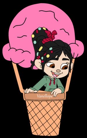 Vanellope on a आइस क्रीम Balloon