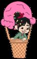 Vanellope on a Ice-Cream Balloon - wreck-it-ralph fan art