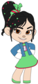 Vanellope's Outfit, Badge and Jean Jacket - wreck-it-ralph fan art