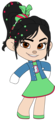 Vanellope's Outfit & Badge with left Arm out - wreck-it-ralph fan art