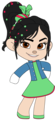 Vanellope's Outfit with left Arm out - wreck-it-ralph fan art