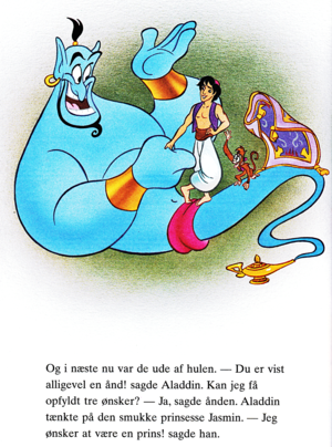 Walt Disney Book Images - Genie, Prince Aladdin, Abu & Carpet