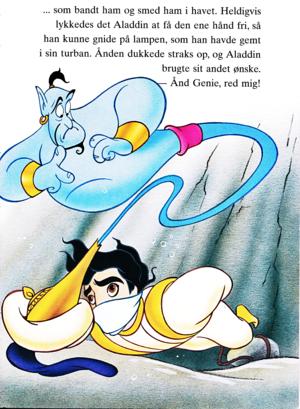 Walt Disney Book Images - Genie & Prince Aladdin