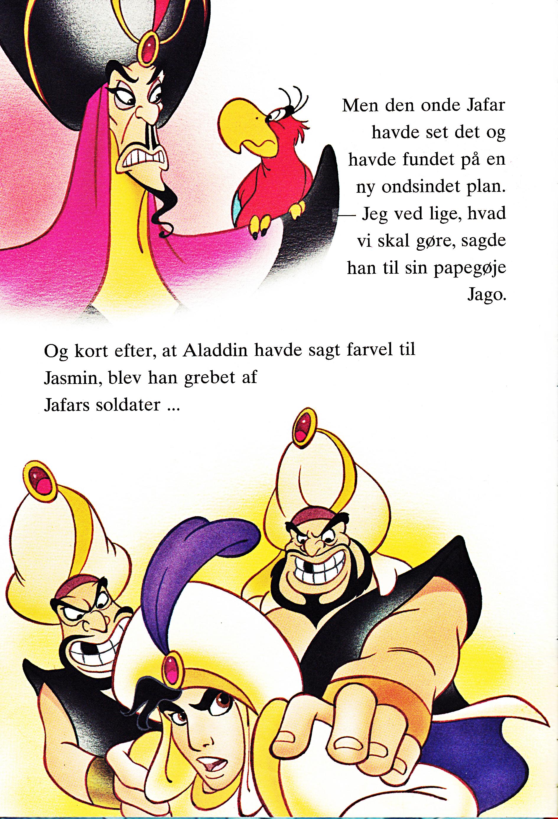 Walt Disney Book Images - Jafar, Iago, Prince Aladdin & Razoul