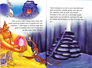 Walt Disney Book Images - Jafar, Prince Aladdin, Abu & Carpet