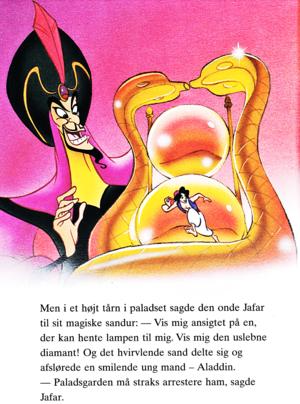 Walt Disney Book Bilder - Jafar & Prince Aladin
