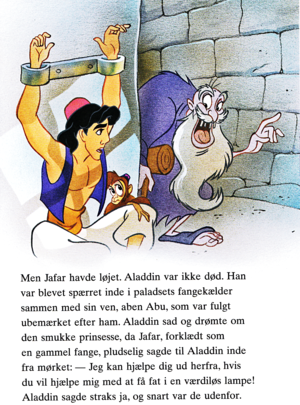 Walt Disney Book picha - Prince Aladdin, Abu & Jafar