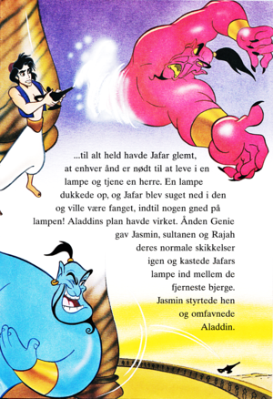Walt Disney Book تصاویر - Prince Aladdin, Jafar & Genie
