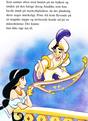 Walt Disney Book images - Princess Jasmine, Prince Aladin & Carpet