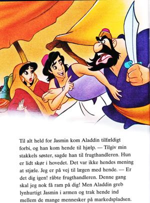 Walt Disney Book larawan - Princess Jasmine, Prince Aladdin & Farouk