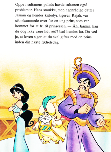 Walt Disney Characters wallpaper probably containing anime called Walt Disney Book Images - Princess Jasmine, The Sultan & Prince Achmed