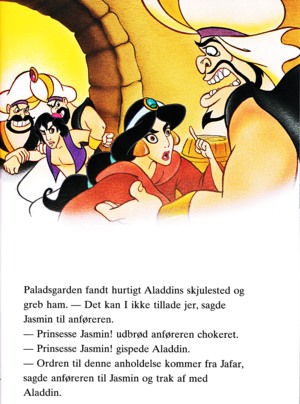 Walt Disney Book hình ảnh - The Guards, Prince Aladdin, Princess hoa nhài & Razoul