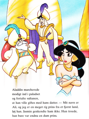 Walt Disney Book larawan - The Sultan, Prince Aladdin & Princess hasmin