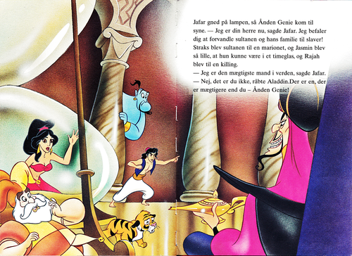 personnages de Walt Disney fond d'écran called Walt Disney Book images - The Sultan, Princess Jasmine, Genie, Rajah, Prince Aladin & Jafar