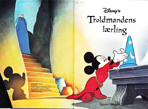 Walt Disney Characters wallpaper possibly containing a sign called Walt Disney Book Images - Yen Sid & Mickey Mouse