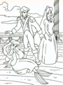 Walt Disney Coloring Pages - Princess Ariel, Prince Eric & Vanessa