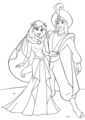 Walt Disney Coloring Pages - Princess jasmin & Prince Aladin