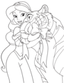 Walt Disney Coloring Pages - Princess Jasmine & Rajah
